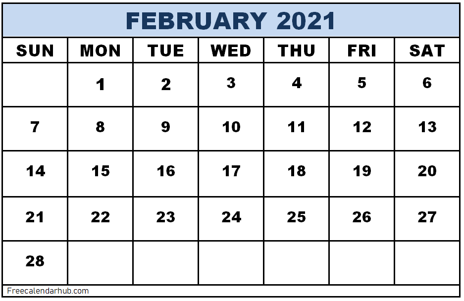 10+ Free Printable February 2021 Calendar in Word, Excel ...
