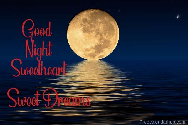 Good Night Sweet Dreams Images Download Full Moon