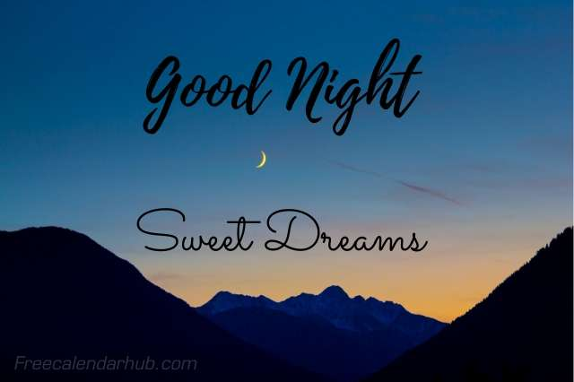 Good Night Sweet Dreams Images Download SMS